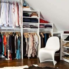 Closet with sitting space