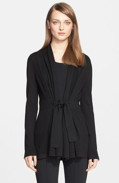 St. John Collection Silk Blend Draped Cardigan available at #Nordstrom