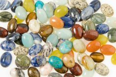 18x13mm Oval Gemstone Cabochon Assortment - Pack Of 100 by Wire-Sculpture. $40.00. Measures 18x13mm. Pack of 100. Assorted stones. Oval shape. This gemstone cab package contains 100 18x13 oval cabochons in various gemstone material. This is the perfect stone for rings and small pendants. Great cut, good color. All popular stones such as rose quartz, cats eye, tiger eye, agate, black onyx and a mix of much more.