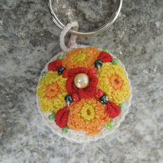 Whimsical Charm for Key Chain Purse Phone or by mfnKreations Key Chain, Whimsical, Crochet Earrings, Charms, Pendants, Purses, Unique Jewelry, Phone, Handmade Gifts