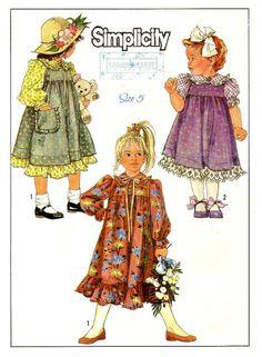 VINTAGE GIRLS SIZE 5 Dress and Jumper Sewing by KeepsakesStudio