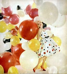 Ballons and polka dots