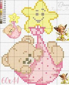 Baby Cross Stitch Patterns, Cross Stitch For Kids, Cross Stitch Baby, Cross Stitch Samplers, Cross Stitch Charts, Cross Stitch Designs, Cross Stitching, Cross Stitch Embroidery, Crochet Wall Art