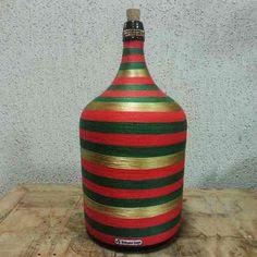 vasos decorativos garrafão vidro antigo trabalhado home