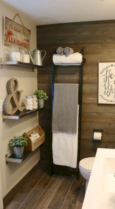 25 Stunning Rustic Farmhouse Bathroom Decor and Design Ideas