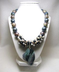 Hearty Statement - Jewelry creation by Linda Foust