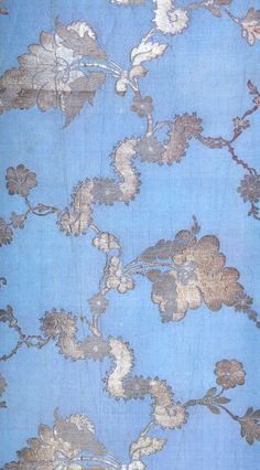 Anna Maria Garthwaite, blue and silver brocaded silk, 1742.