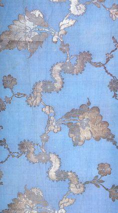 Anna Maria Garthwaite, 1742   Blue and silver brocaded silk