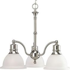 Progress Lighting Madison Collection 3-Light Brushed Nickel Chandelier-P4280-09 - The Home Depot