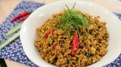 Kua Gling – Southern Pork Stir-Fry w/ Curry Paste คั่วกลิ้ง
