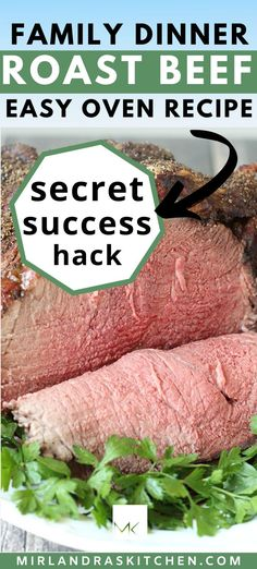 Anybody an make a perfect roast beef!  You don't need an expensive cut of beef or a lot of experience.  This recipe walks you through the few simple things you need to do to nail this dinner! On a budget?  Try this trick instead of prime rib!  #beef #easy #sundaydinner #holidaymeal #maindish #roast Easy Summer Desserts, Summer Food, Summer Recipes, Interesting Recipes, Amazing Recipes, Delicious Recipes, Dinner Dishes, Main Dishes, Christmas Recipes