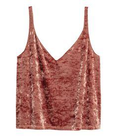 Crushed velvet strappy top | Rust | Ladies | H&M AE