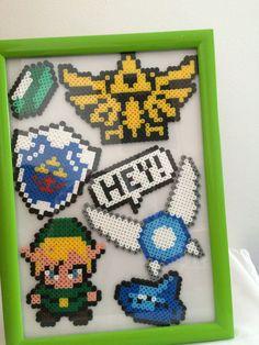 Collection perle de Perler sur le thème de Zelda