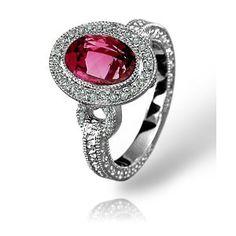 Pave Diamond Oval Pink Tourmaline Ring in white gold by Zasha Signature Jewelry (Jewelry)  http://plrmakemoney.com/hit.php?p=B000PGI5CY  B000PGI5CY