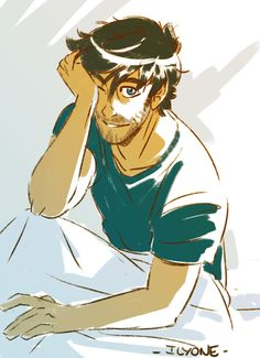Percy as an adult. Please tell me I'm not the only one that suddenly got nervous when I saw this.