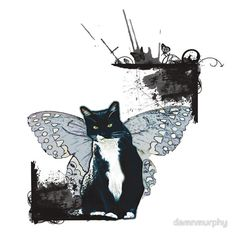 Do you love cat ?  Also on legging, t-shirt, cases, mug, travel mug, throw pillow, tote bag, studio pouch, etc.  http://www.redbubble.com/people/damnmurphy/works/14794177-flying-cat?p=t-shirt&ref=work_carousel_work_portfolio_1