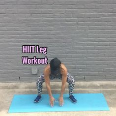 💥HIIT Leg Workout💥 Get ready to feel the burn!!🔥😅💦 - 20 Sec ea Move, 10 Sec rest in btwn each - 3-5 Sets - - Leggings:…