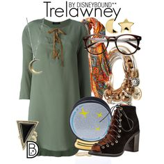 Trelawney by leslieakay on Polyvore featuring Roberto Collina, Jeffrey Campbell, Nila Anthony, Lizzy James, House of Harlow 1960, Erica Weiner, Bindya and harrypotter