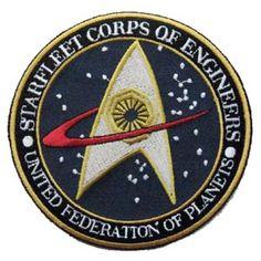 4er SET Star Trek Startrek Captain Uniform Kost/üm Aufn/äher Patch Abzeichen