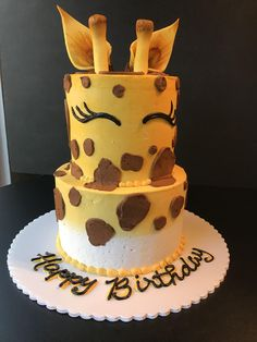 [pro/chef] I made a giraffe cake Food Recipes - Cake Decorating Cupcake Ideen Giraffe Birthday Cakes, Giraffe Birthday Parties, Zoo Birthday Cake, Animal Cakes For Kids, Zoo Animal Cakes, Girraffe Cake, Safari Cakes, Creative Cakes, Creative Birthday Cakes