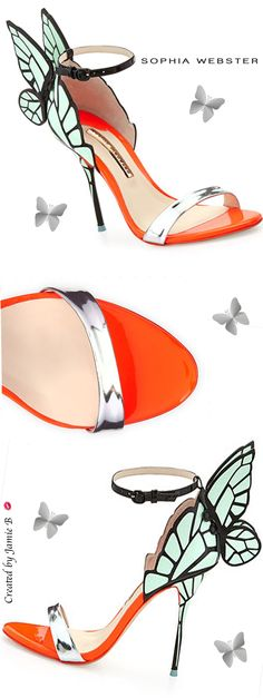 Pre Fall Sophia Webster | Chiara Butterfly Wing Ankle-Wrap Sandal | Jamie B