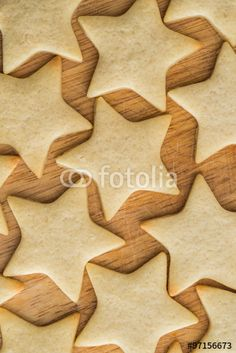 Star shaped butter cookies, Christmas pastry