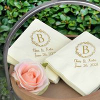 See what your wedding napkins will look like with free instant online proofing. Have some fun with it and order your favorites!