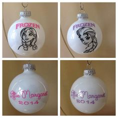 Personalized Frozen Anna or Elsa Ornament by FifilaGs on Etsy