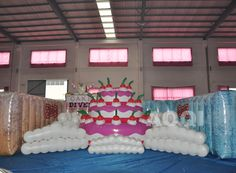 Inflatable cake, advertising balloons, promotional balloons