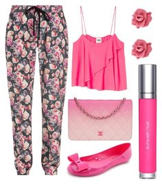 """""""Comfortable Pants"""" by goycotwo ❤ liked on Polyvore featuring Markus Lupfer, Chanel, Marc by Marc Jacobs, shu uemura and Kate Spade"""
