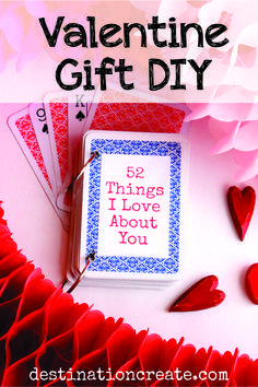 52 things i love about you card deck template free - Google Search ...
