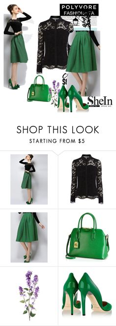 """""""SheIn Contest - Green Plaid Skirt"""" by pantarei85 ❤ liked on Polyvore featuring Ralph Lauren, Jimmy Choo, Tiffany & Co. and shein"""
