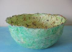 easy paper mache bowls videos | Simple-to-make tissue paper flowers . Paper Plate Crafts Papier ...