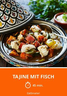 Fish Tagine, Arabic Food, Fish And Seafood, Diet And Nutrition, Fish Recipes, Food Print, Meal Prep, Clean Eating, Food And Drink