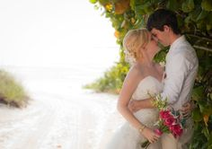 Amazing Under the Sea Beach Wedding at The Pink Shell Beach Resort in Fort Myers Beach, Florida See more here: https://www.thecanovasphotography.com/ashley-and-chris-pink-shell-beach-resort-fort-myers-beach-florida/