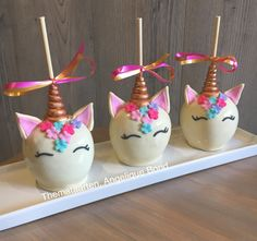 Unicorn candy apples made by Angelique Bond from the Netherlands