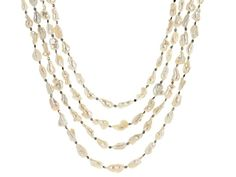 Free-Form Cultured Freshwater Pearl and Hematine Rhodium Over Silver 3