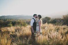 Ojai Red Tail Ranch wedding with a Mara Hoffman dress