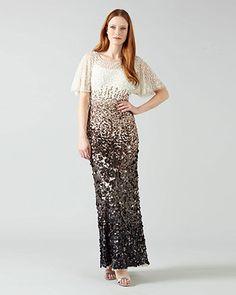 Phase Eight Contina Embellised Full Length Dress Metallics