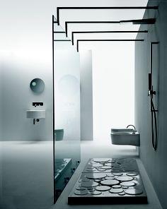 Minimalist Bathroom // Slim + Monolite by Nic Design Minimalist Bathroom, Modern Bathroom, Bathroom Interior Design, Interior Decorating, Decorating Ideas, Interior Architecture, Interior And Exterior, Minimalist Design, Modern Design