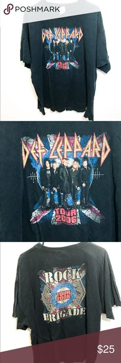 Def Leppard Grungy Tour Tee XL Unif for exposure UNIF Tops