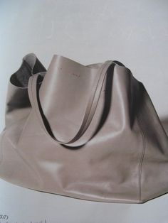 Slouchy leather bag; chic minimal accessories // Celine