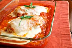 Baked and healthy version of chicken parmesan
