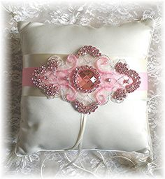 Bejeweled Wedding Ring Bearer PILLOW  by WildExpressionsBride  www.wildexpressionsbride.etsy.com
