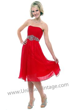 Red bridesmaid dress is a must