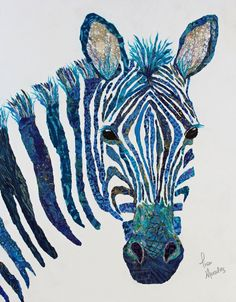 Cart 0 Art Shows Purchase Prints Gallery Let's Trade! Contact Me My 411 Zebra Painting, Zebra Art, Zebra Kunst, Image Maker, Lisa Morales, Paper Collage Art, Animal Quilts, Thread Painting, Abstract Photography