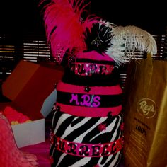 This was made for my sister bridal shower. The theme is black hot pink and zebra.
