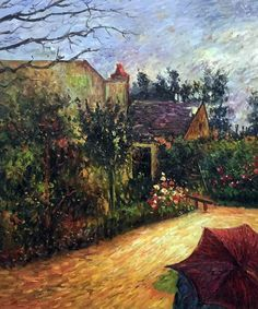 Paul Gauguin - Pissarro's Garden, Pontoise 1881 - Canvas Art & Reproduction Oil Paintings at overstockArt.com