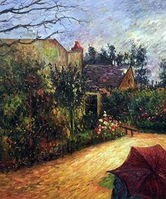 Paul Gauguin - Pissarro's Garden, Pontoise 1881 - Canvas Art & Reproduction Oil Paintings at overstockArt.com