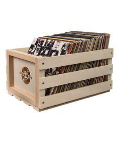 Loving this Record Storage Crate on #zulily! #zulilyfinds